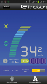 Bluetooth-based control app for the electric bike