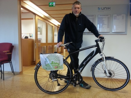 Josef Noll from UNIK presents the CITI-SENSE-MOB measurement bike