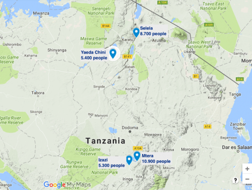 Selected villages in TZ