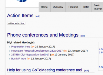 DigI Meetings page