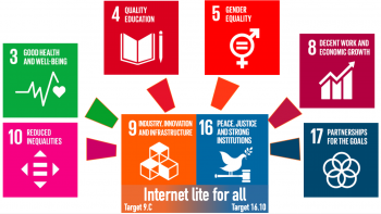 Internet light as catalyst for the SDGs